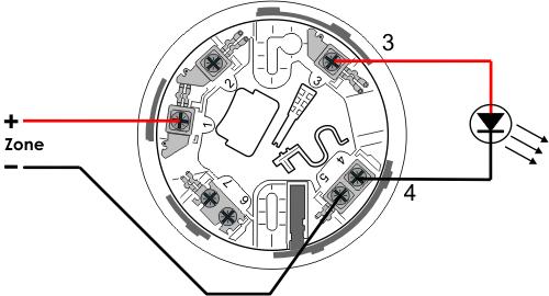 CTEC C4408 Detector Base    Wiring       Diagram