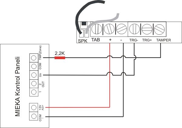 3mk os30p sabotaj korumalı flaş 246 rl 252 harici siren bağlantı şeması