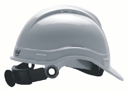 LOREX LR-065S White Safety Helmet with Sweat Pad Adjustable with Wheel Rachet